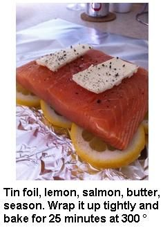 How to make salmon.