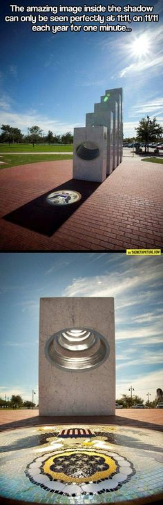 Awesome Veterans' Day memorial…how is this even possible on the same day at the same time?