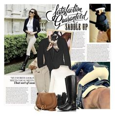 """""""Saddle up!"""" by violetta-valery ❤ liked on Polyvore featuring Looking Glass, Riding High, Rick Owens, Burberry, The Row, Mulberry, Tory Burch, Chloé and Blu Bijoux"""