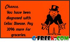 Gluten-Free Monopoly Card for those with Celiac Disease. http://www.glutenfreebuyersguide.com/