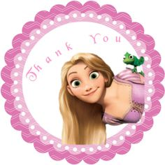 Tangled Rapunzel Personalized Stickers Party por MagickalMemories