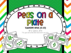 Subitising - Peas on a Plate (Counting to 10)