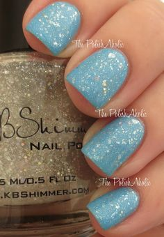 The PolishAholic: KBShimmer I Only Hae Ice for You by Chalkboard Nails
