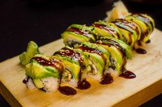 Caterpillar Roll is one of the products (for delivery only) that has made Sushi Dojo NYC a top sushi bar NYC