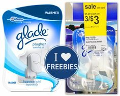 Walgreens  Buy 3 Glade PlugIns Scented Oil Warmers $1.00 each, when you buy 3, sale price through 4/26 Use three $1.00/1 – GladeOil: PlugIns Scented Oil Warmer or Starter Kit (coupons.com) Final Price: Free, when you buy 3