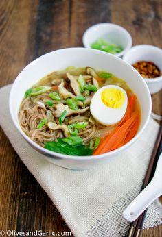 Soba Noodles in Shiitake Broth