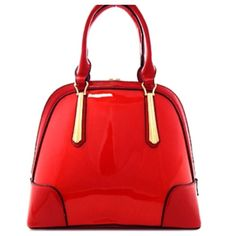 """New - Red Bag Cute red bag. Zip closure with inside zip and open pockets. With rear zip. Handle drop 6"""", Height 10.5"""", 13"""" Wide and 6"""" Deep. With removable strap. Note! Not real leather. Please ask questions if you are not sure. Bags"""