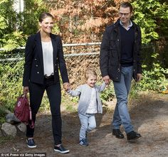 Royal occasion: The little girl is second in line to the throne thanks to the rules of suc...