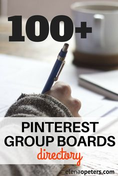 Over 100 Pinterest group boards organized by niche/category. Feel free to take a look around and find some new boards to join.