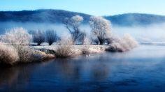 nature fog swans lakes 1920x1080 wallpaper Art HD Wallpaper