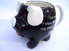 Mud Pie Dog Puppy Coffee Mug Mugimals Black & White The More I Know About Men...  | eBay