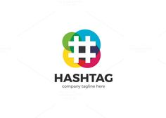 Hashtag Logo by XpertgraphicD on @creativemarket