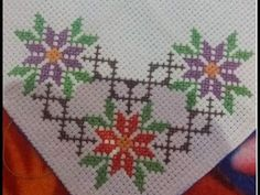 Cross Stitch Gallery, 123 Cross Stitch, Cross Stitch Bookmarks, Cross Stitch Borders, Cross Stitch Flowers, Cross Stitch Designs, Cross Stitch Patterns, Hand Embroidery Videos, Embroidery Patterns Free