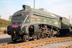 "The Gresley designed A4 4-6-2 Pacific Steam Engine 60010, aka the ""Dominion of Canada"" is pictured here a bit mussy upon arrival at Locomotion, the National Railway Museum located in Shildon. Photo taken in early October, 2012."
