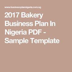 Fish farming business plan in nigeria pdf sample template to help 2017 bakery business plan in nigeria pdf sample template flashek Images