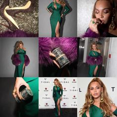Beautiful collage of Beyoncé's pictures.