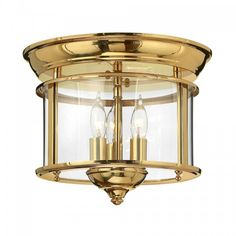 Flush Fitting Traditional Hallway Ceiling Light for Low Ceilings