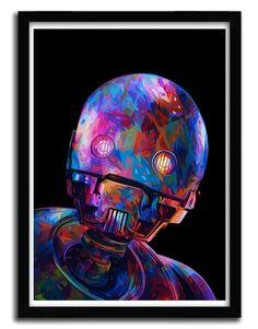 You know you want to buy this  Affiche K2SO par ALESSANDRO PAUTASSO https://www.etsy.com/listing/491521980/affiche-k2so-par-alessandro-pautasso?utm_campaign=crowdfire&utm_content=crowdfire&utm_medium=social&utm_source=pinterest