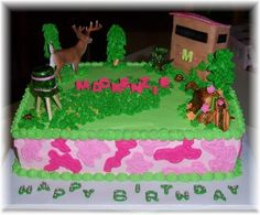 Huntingcamouflage cake Michelles Cakes Pinterest Cakes