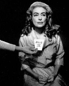 Hair test for 'Hush. Hush Hush Sweet Charlotte, Feud Bette And Joan, Robert Aldrich, Hair Test, Olivia De Havilland, Marlon Brando, Joan Crawford, Girl Next Door, Vintage Hollywood