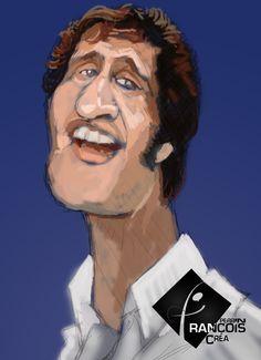 Caricature Joe Dassin