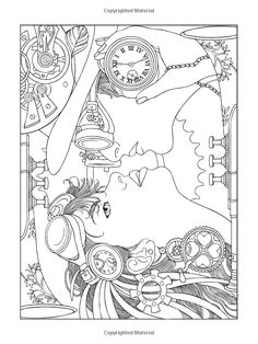 Adult Coloring Pages Creative Haven Steampunk Fashions Coloring