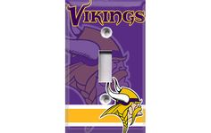 Minnesota Vikings Football Light Switch Plate by Crazy8Zdecor, $6.99