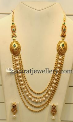 Jewellery Designs: Simple Beads Haram Looks Heavy