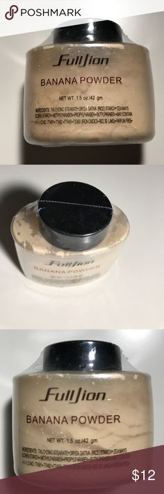 FULLJION BANANA POWDER Fulljion 1pc Women Makeup Loose Banana Powder 1.5 oz Bottle Authentic Luxury For Face Foundation Beauty Makeup highlighter.                                                                                                           Pores,Whitening,Long-lasting,Concealer,Sensitive,Brighten,Anti-wrinkle,Sun Block,Firm,Freckle Removing,After Sun,Natural FullJion Makeup Face Powder