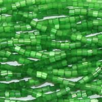 11-0 Two Cut Green Satin Czech Seed Bead