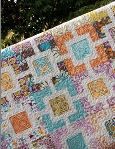 modern quilt patterns | modern quilt pattern PDF // courtyard maze by ... | Quilting - Blocks ...