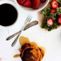 3 Ingredient Sweet Potato Pancakes by @Katie on @Stacy of Paleo Parents