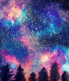 Kindled Soul by Orphicallygenous on DeviantArt This will be a simple tutorial on making your own galaxy or starry painting! Here is also the tutorial video just in case LINK: Let us begin! Galaxy Painting Acrylic, Watercolor Galaxy, Watercolor Trees, Watercolor Background, Watercolor Landscape, Watercolor Paintings, Simple Watercolor, Tattoo Watercolor, Watercolor Animals