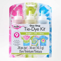 Tulip Tie Dye, Blue Tie Dye, How To Tie Dye, How To Dye Fabric, Tie Dye Supplies, Tie Dye Kit, Craft Supplies Online, One Step, Bright Art