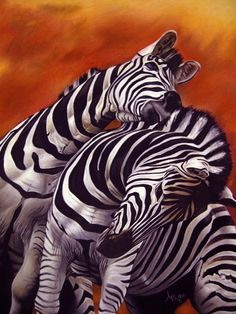 We can't have a black and white pinboard without zebra stuff now can we? Love the orangey-red background on this one.