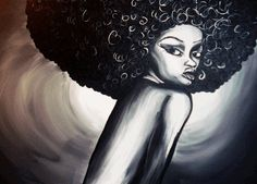 Natural Hair Art. If this is your image, let me know so I can give you credit.