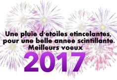 Une pluie d'etoiles étincelantes, pour une belle année scintillante. Meilleurs voeux 2017 #bonneannee