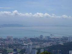 On West Moniot Road in the Penang Hills, some awesome views towards Penang