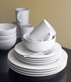 Roulette Dinnerware from Crate and Barrel Can't wait to add another 4 place settings to the ones I already have