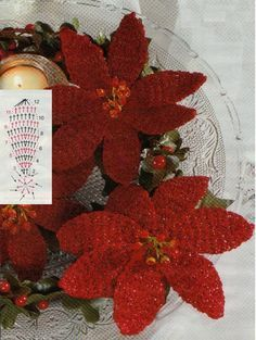 Bellissime stelle di Natale all'uncinetto con schema - Il blog italiano sullo Shabby Chic e non solo