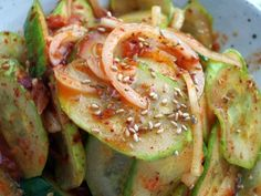 Cool & Spicy Cucumber Salad (Oi Muchim)....Can't wait to give this a try ;)