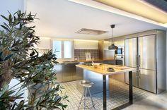 Cocina integrada con comedor y salón en Benicassim 3