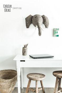animal head - xhosa basket - river jar -boat letter - wooden stool - www.couleurlocale.eu