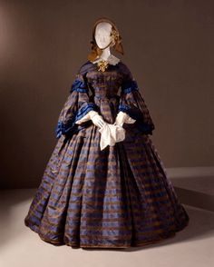 In the Swan's Shadow: Silk Damask Dress ca. 1860.