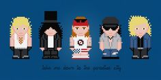 Guns N Roses Rock Band Cross Stitch PDF by pixelpowerdesign, $5.00