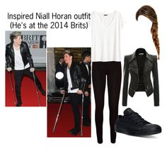 """""""Inspired Niall Horan outfit"""" by tanisfraser on Polyvore featuring WearAll, BRIT*, H&M and Converse"""