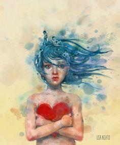 Om angst for kjærlighet by Lisa Aisato The Little Prince, Love Art, William Turner, Female Art, Illustrators, Gouache, Art Drawings, Street Art, Abstract Art