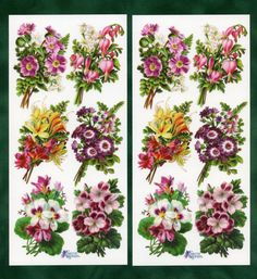 Floral Bouquet STICKERS Flower Stickers by OneDayLongAgo on Etsy