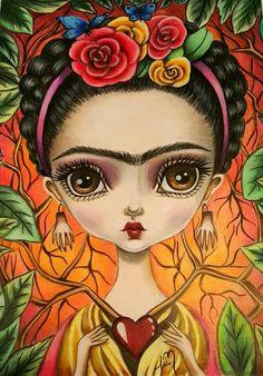 55 Ideas for painting frida kahlo mexican folk art Pop Art, Kahlo Paintings, Frida And Diego, Frida Art, Arte Popular, Mexican Folk Art, Whimsical Art, Art Plastique, Skull Art