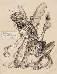 Mi-go - Fungi von Yuggoth  (Konzept 04). Illustration by Nathan Rosario.